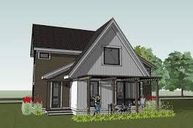 Scandia Modern Cottage House Plan    Scandia Modern Cottage House Plan rear view