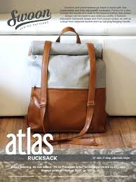 roll top canvas backpack pattern leather free swoon patterns atlas rucksack home improvement alluring