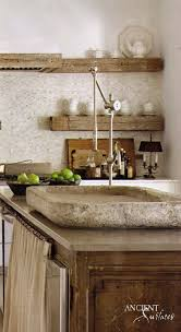 rough stone limestone kitchen carved antique provence