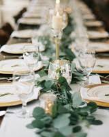 simple wedding centerpiece. elegant reception table