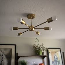 amazing diy hanging light fixtures diy sputnik light mid century modern ceiling fixture you indoor decorating plan
