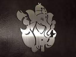 ganesha metal wall art