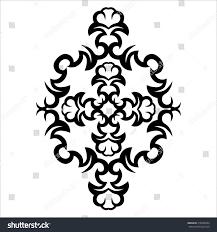 Floral Sketch Designs Tribal Tattoo Vector Designs Sketch Simple Stock Vector
