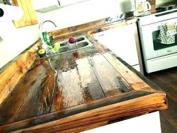 sealing butcher block countertops how to finish treat finishing with polyurethane staining ikea