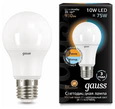 <b>Лампа</b> светодиодная <b>gauss</b> 102502110-T, E27, A60, 10Вт ...