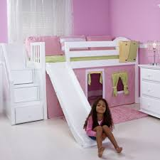 Delicious Maxtrix Twin Loft Bed Stairs Slide Solid Hard Wood