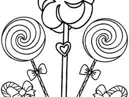 Big Lollipops Coloring Page Girl S Birthday Party Pages Lollipop