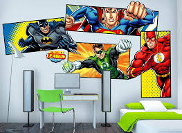 justice league super heroes wall decals