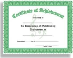 Achievement Certificate Certificate Of Achievement In Recognition Of Outstanding