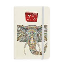 Elephant Design Gifts Amazon Com Mosaic Style Colorful Elephant Design Notebook