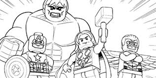 Supereroi Da Colorare E Stampare Con Disegni Da Stampare Lego