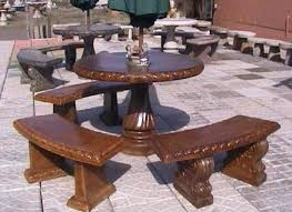 decorative bench garden tables and benches concrete indoor