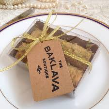 Turkish Baklava Wedding Favours By The Baklava Boutique