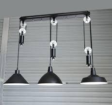 industrial pulley light adjustable silver pulley pendant lamp dining room bar retro pendant lights club salon industrial pulley
