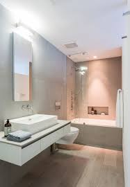 coastal bathroom designs: view in gallery small shower area and bathroom design in gray and white