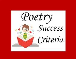 Poetry Success Criteria By Teaching With Ease Ltd Tpt