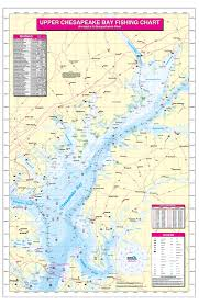 Upper Chesapeake Bay Chart Upper Chesapeake Bay Annapolis To Susquehannah River Fishing Map