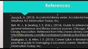 The References Slide