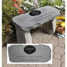 personalized memorial bench forever remembered