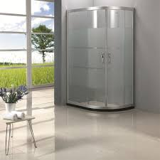 small frosted glass shower doors