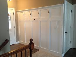 Tall Wainscoting entryway wainscoting with hooks for coats and a shelf for 8066 by xevi.us