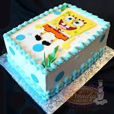 How To Make A Spongebob Cake Middle Simple With Edible Flowers Right
