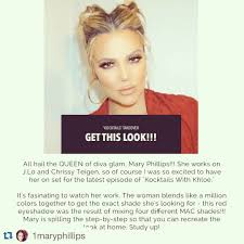 all up on khloe app to get this look jennifer lopez makeup artist mary phillips prepped khloe kardashian s skin with nordic beauty face and eye collagen