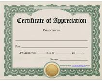 Printable Appreciation Certificates Printable Certificates Of Appreciation Bookmark Certificate