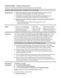Sample Resume For Flight Attendant Flight Attendant Resume Sample Monster Com