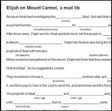 With our search engine you can find drawings containing what you want to paint. Elijah On Carmel Mad Lib Bible Crafts By Jenny
