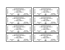 Awesome Show Ticket Template Embellishment - Administrative Officer ...