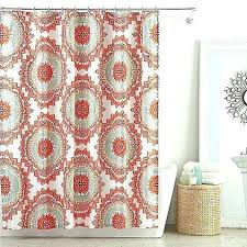 salmon shower curtain salmon shower curtain c grey light blue shower curtain bed bath and beyond