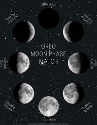 Phases Of The Moon Chart For Kids Oreo Moon Phase Match Printable Simply Learning