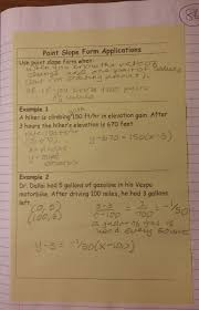 beautiful math linear equations all forms s 5 4 practice point slope form 062315 5 4