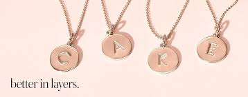 kate spade grace avenue napkin rings initial necklaces and bracelets oh my new kate spade