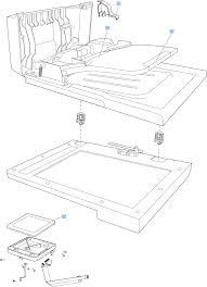 Scanner and document feeder main assemblies