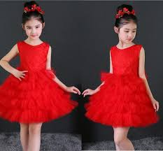 High Quality <b>White Red Puff</b> Skirt Child Eauty Pageant Round Neck ...