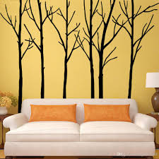 fancy design tree branch wall art home decorating ideas extra large black branches mural decor sticker 3d diy disc iron metal