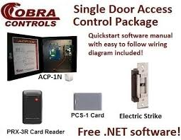 cobra controls acp n door computerized access control system cobra controls complete single door access control kit proximity cards and electric locks