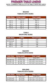table linen size calculator