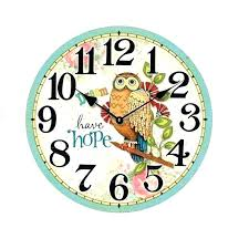 wall clock rustic wood hot large modern design owl vintage clocks wooden ru