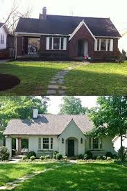 before and after painting brick house jpg 550 823