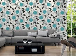 Small Picture Colourful Wall Papers Designs Blue Colour Flower Wallpaper