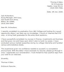 Computer Science Graduate Cover Letter Sample Application Letter