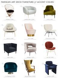 art deco furniture. plain deco emily henderson parisian art deco furniture chairs roundup intended r