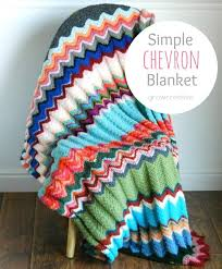 Chevron Crochet Blanket Pattern Stunning Simple Chevron Blanket AllFreeCrochet