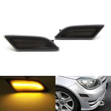 Front Side Marker Light Ijdmtoy Smoked Lens Amber Full Led Front Side Marker Light Kit For 2012 14 Mercedesw204 Lci C250 C300 C350 Sedan Coupe Powered By Smd Led Replace
