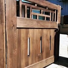 unique hinged large wooden gate designs