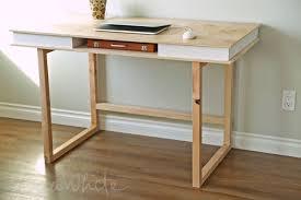 modern 2x2 desk base for build your own study desk plans