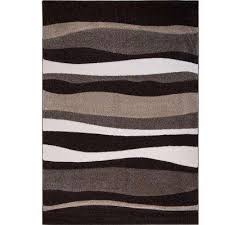 bazaar zag dark brown 8 ft x 10 ft indoor area rug